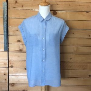 Rails linen-cotton short-sleeve button up shirt